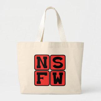 NSFW Internet-Jargon nicht sicher für Jumbo Stoffbeutel