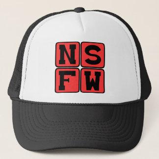 NSFW Internet-Jargon nicht sicher für Truckerkappe