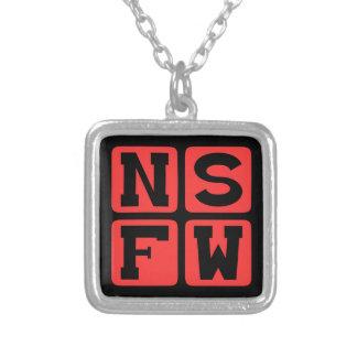 NSFW Internet-Jargon nicht sicher für Versilberte Kette