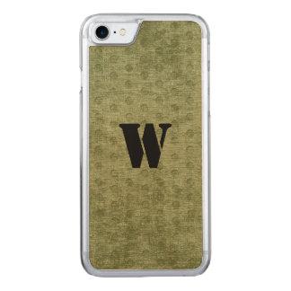 Nubby Armee-Grün-Chenille-Gleichheit Carved iPhone 8/7 Hülle