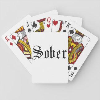 Nüchtern, gotisch - Spielkarten