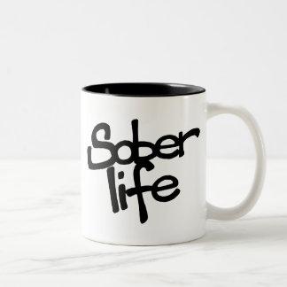 Nüchterne Leben-Kaffee-Tasse Zweifarbige Tasse