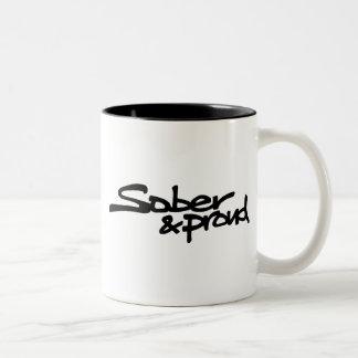 Nüchterne und stolze Graffiti-Kaffee-Tasse Zweifarbige Tasse