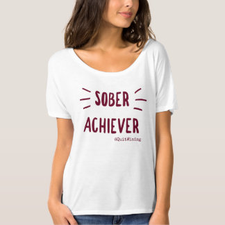 Nüchterner Durchführer-Slouchy Freund-T - Shirt #1