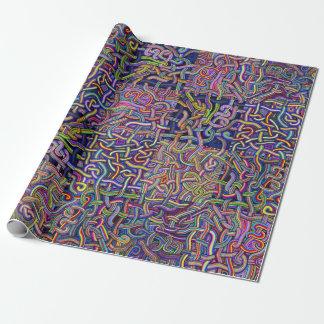 Nudel-Labyrinth-Entwurf Geschenkpapier