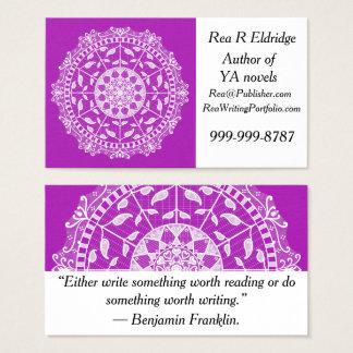 Nudibranch Mandala Visitenkarte