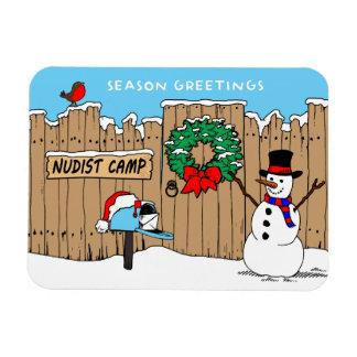 Nudist-Lager-Weihnachten Magnet