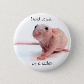 Nudist-Ratte Runder Button 5,7 Cm