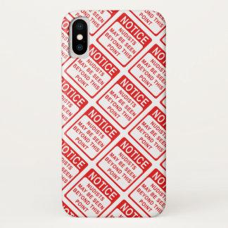 Nudist-Strand-- rotes und weißes iPhone X Hülle