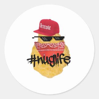 Nugget-Leben-Aufkleber Runder Aufkleber