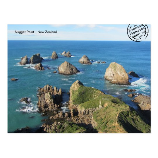 Nugget Point (Neuseeland) Postkarte