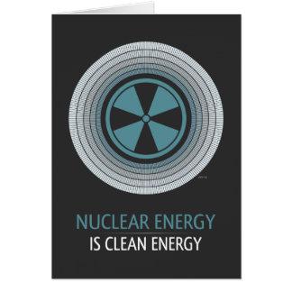 Nukleare Energie ist saubere Energie Karte