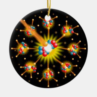 Nukleare Spaltung Rundes Keramik Ornament