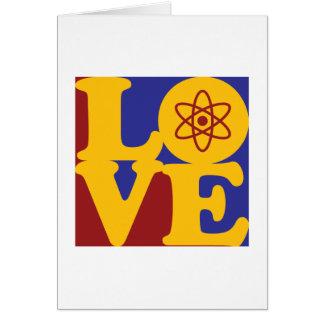 Nukleare Technik-Liebe Karte