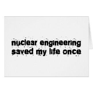 Nukleare Technik rettete mein Leben einmal Karte