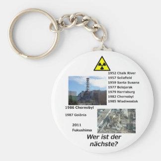 """Nuklearer AntiPower """"Wer ist der nächste? """" Standard Runder Schlüsselanhänger"""