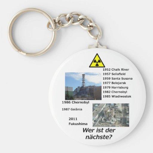 """Nuklearer AntiPower """"Wer ist der nächste? """" Schlüsselanhänger"""