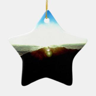 Nuklearer Sonnenaufgang Keramik Stern-Ornament