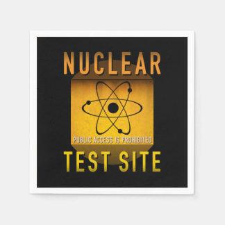 Nuklearer Test-Standort-Retro AtomalterGrunge: Servietten