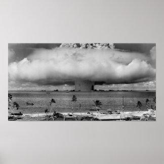 Nuklearer Waffen-Test - Bikini-Atoll Poster