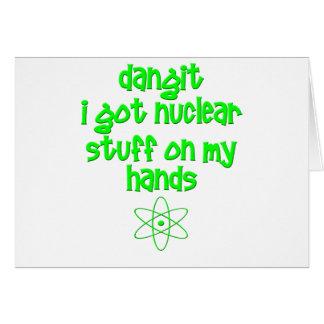Nukleares Material auf Händen Karte