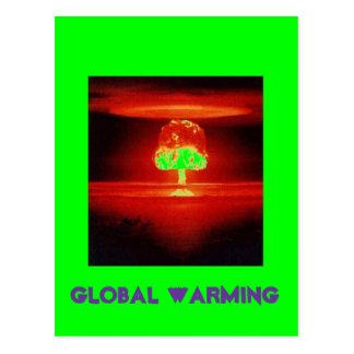 Nuklearexplosion GLOBALE ERWÄRMUNG Postkarte