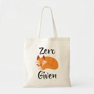Null Fox gegebene coolste Haltungs-Taschen-Tasche Tragetasche