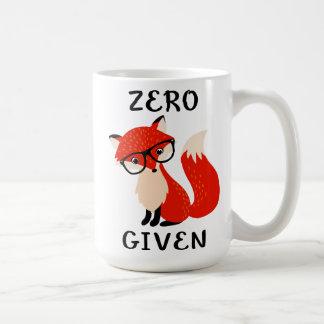 Null Fox gegebene lustige Zitat-Kaffee-Tasse Tasse