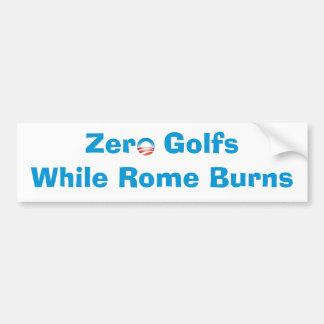 Null spielt Golf, während Rom brennt Autoaufkleber