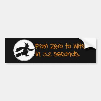 Null zur Hexe-Silhouette-Art Auto Sticker