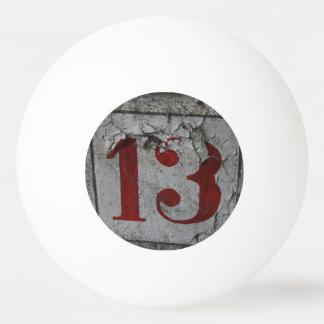 Number 13 tischtennis ball