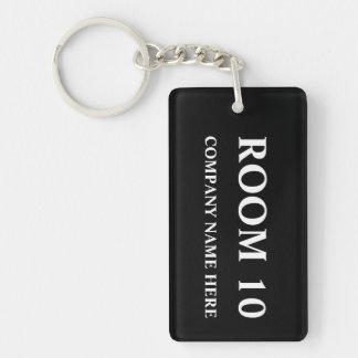 Nummerierte Hotelzimmer keychains | kundengerecht Einseitiger Rechteckiger Acryl Schlüsselanhänger
