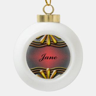 Nummernschild-Gelb Keramik Kugel-Ornament