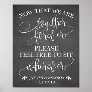 Nun da wir zusammen für immer sind, sitzen Sie Poster