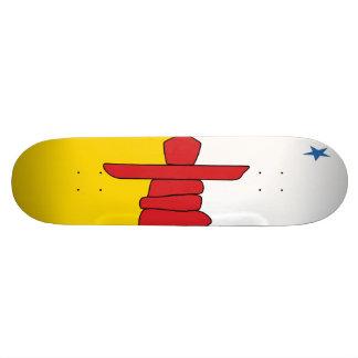 Nunavut Flaggen-Skateboard Personalisierte Skatedecks