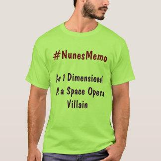 #NunesMemo als 1 dimensional als T-Shirt