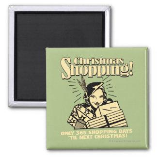 Nur 365 kaufentage 'bis folgendes Weihnachten Quadratischer Magnet