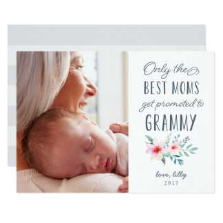 Nur die besten Mammen erhalten zu Grammy Foto 12,7 X 17,8 Cm Einladungskarte