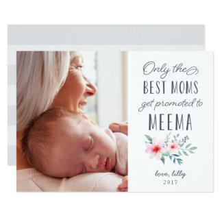 Nur die besten Mammen erhalten zu Meema Foto 12,7 X 17,8 Cm Einladungskarte