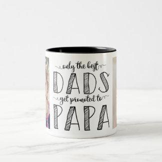 Nur die besten Vatis erhalten zum Papa gefördert Zweifarbige Tasse