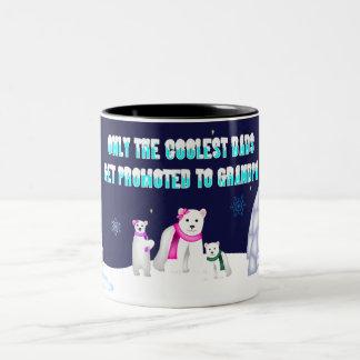 Nur die coolste Vati-Tasse Zweifarbige Tasse