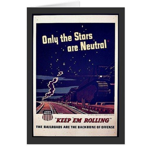 Nur die Sterne sind neutral Grußkarte