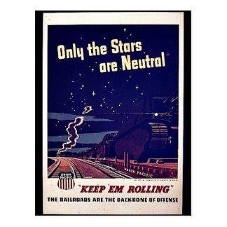 Nur die Sterne sind neutral Postkarte