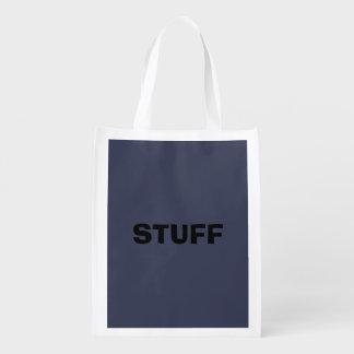 Nur dunkelblauer grauer fahler wiederverwendbare einkaufstasche