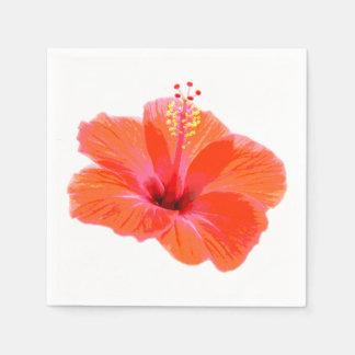 Nur eine Hibiskus-Blüte + Ihr Text u. Ideen Serviette