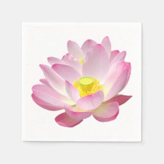 Nur eine Lotus-Blüte + Ihr Text u. Ideen Papierserviette