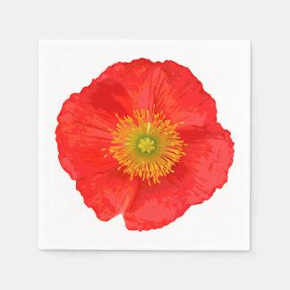 Nur eine Mohnblumen-Blüte + Ihr Text u. Ideen Servietten