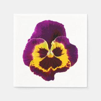Nur eine Pansy-Blüte + Ihr Text u. Ideen Papierserviette