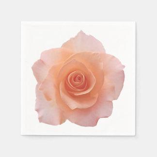 Nur eine Rosen-Blüte + Ihr Text u. Ideen Papierserviette