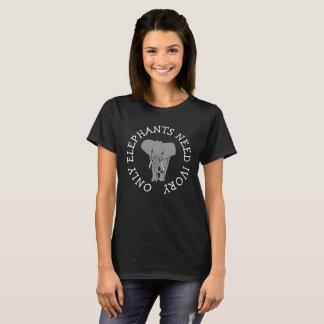 Nur Elefant-Bedarfs-Elfenbein, pochierender T-Shirt